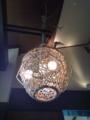 あけび細工のランプシェード。かなり大きい!