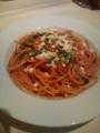 モッツァレラとバジルのトマトソーススパゲティ