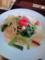 小柱と小松菜のペペロンチーノ