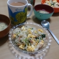 朝食のカラフルチャーハン