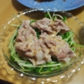 水菜と冷しゃぶサラダ