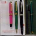 万年筆の背比べ