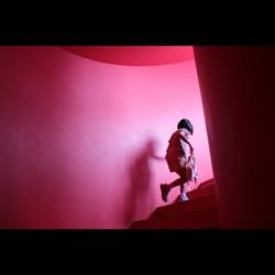 7/19 屋上への真っ赤な階段