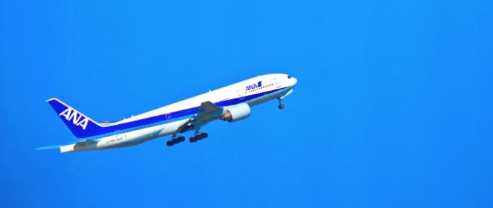 ANAマイルでのる飛行機の姿