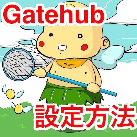 Gatehub設定方法 ポイン