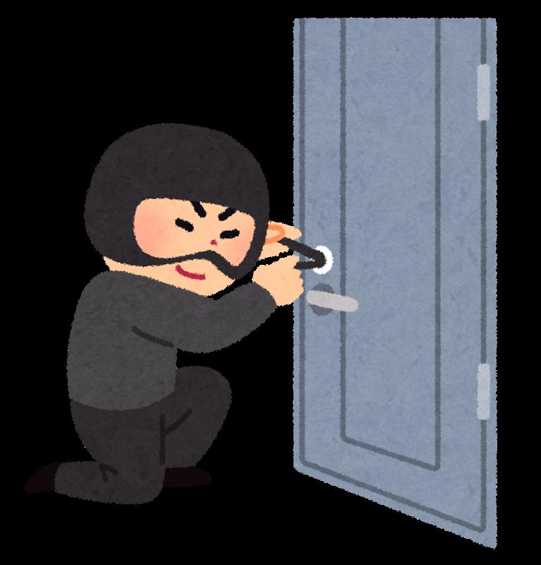 留守を確認し侵入する犯罪者