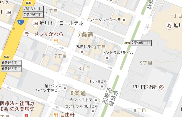 旭川市役所Googlemap