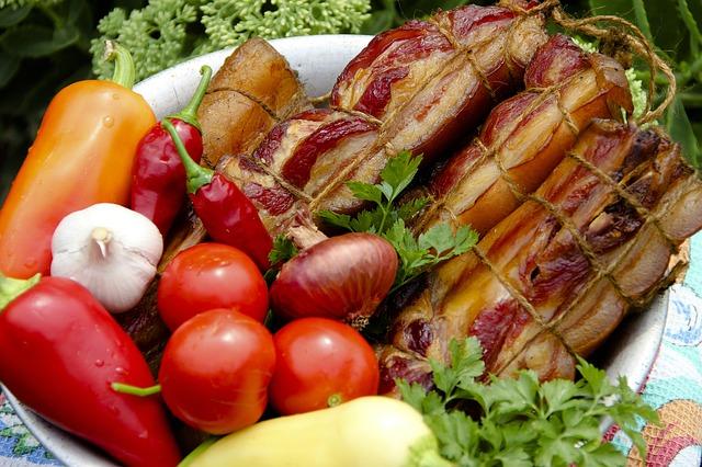 ファスティング中の肉と野菜をイメージしたもの