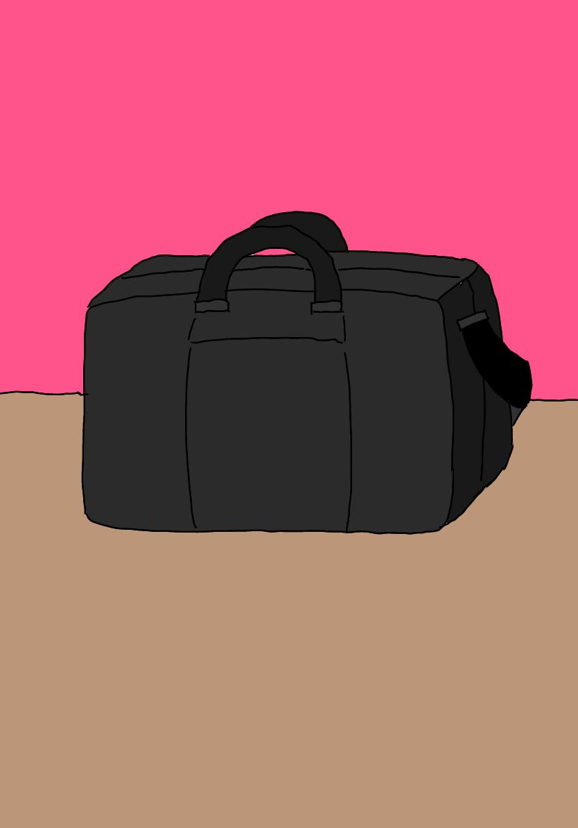 清水さんの大きなバッグ