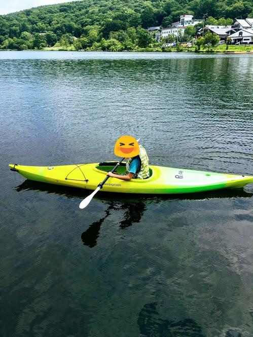白樺湖カヌー体験