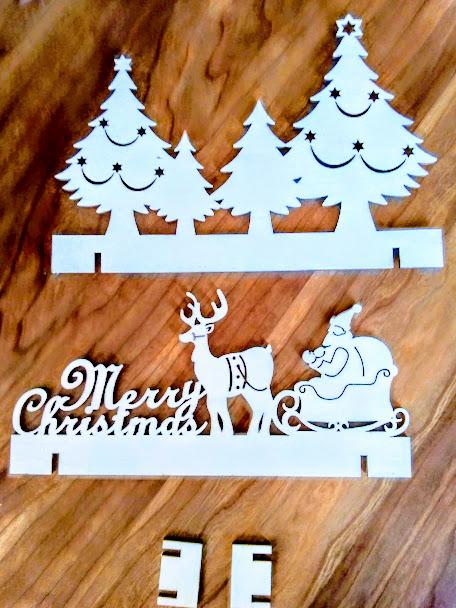 クリスマス立体置きパネル