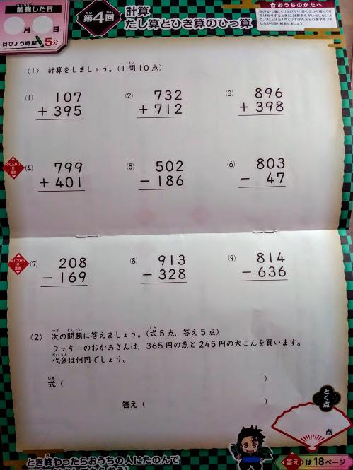 進研ゼミ×鬼滅の刃 ドリル