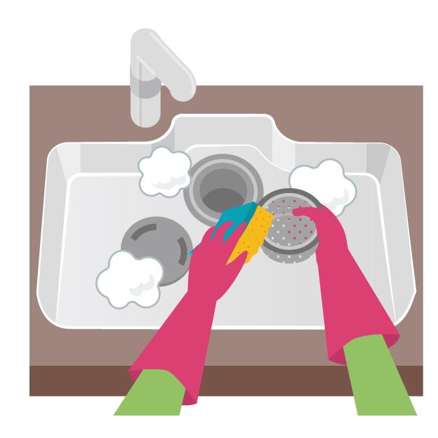シンク排水掃除
