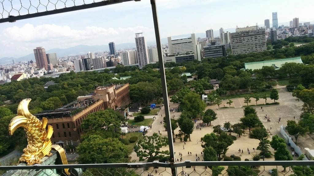 大阪城展望台景色