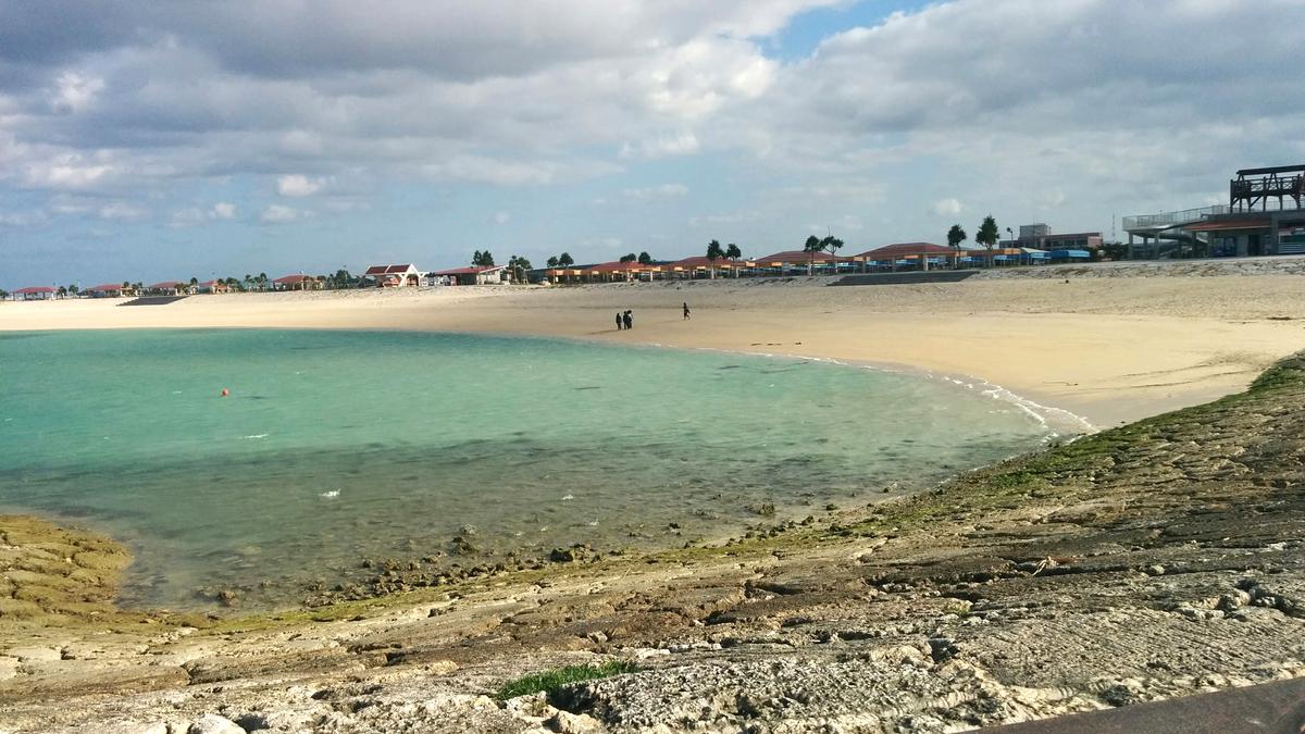 豊崎海浜公園のビーチ