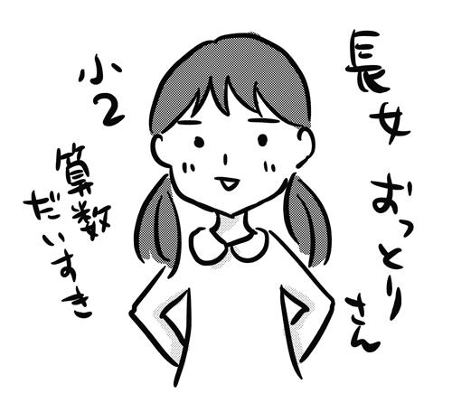 小学2年生 長女 おっとりさん