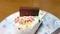 ヨーグルトケーキのチョコ