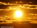 [日の出]2013/11/12