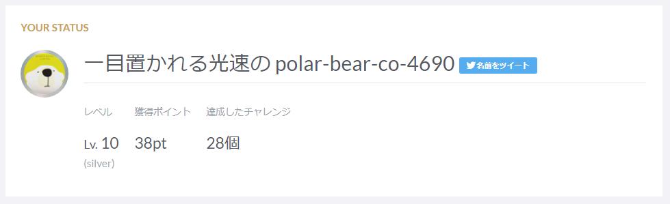 一目置かれる高速のpolar-bear-co-4690 Lv.10-38pt-28個(silver)