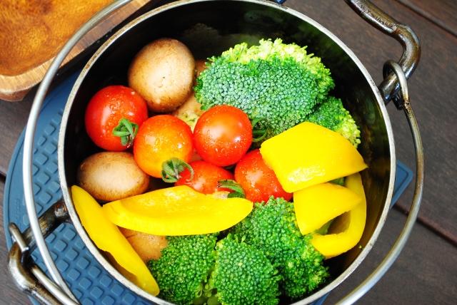 野菜は生と温のコンビで