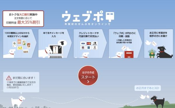 「ウェブポ」のトップ画面