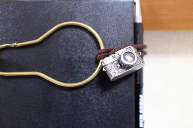 トラベラーズノート用のカメラ型チャームの写真