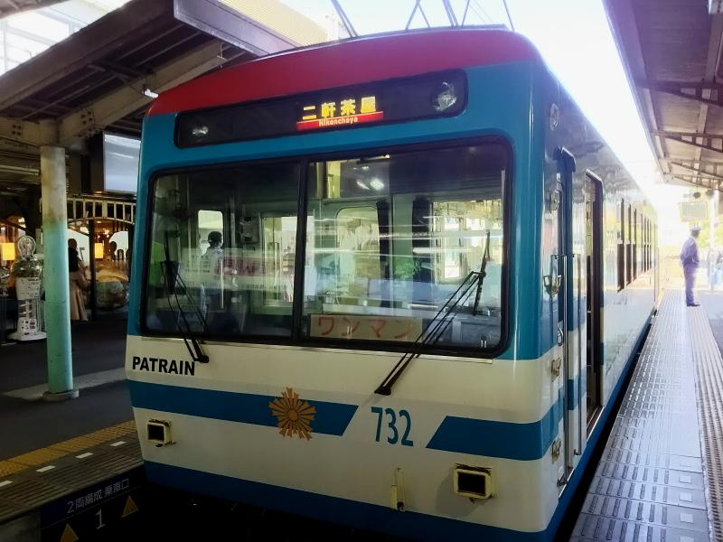 比叡電車の一両編成電車