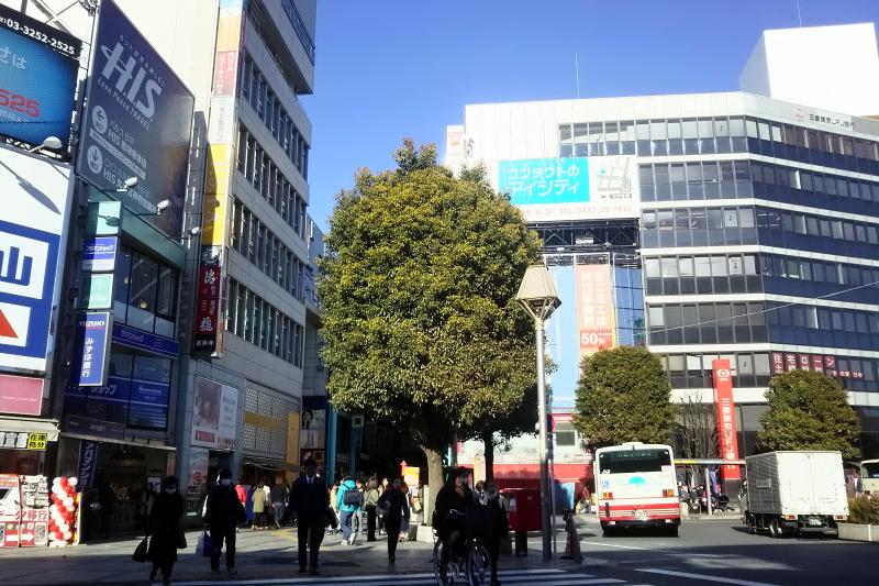 吉祥寺駅北口からの風景