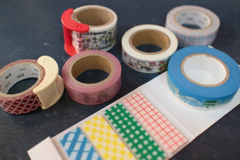 たくさんのマスキングテープ