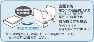 枕の説明文