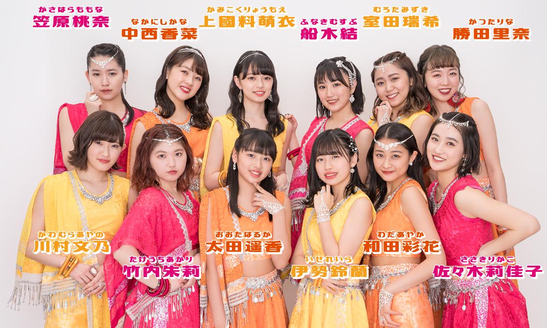 アンジュルムの12人のメンバー(2019年6月現在)