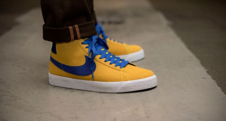 8e12014ae24 1月発売 NIKE SB BLAZER MID  TOUR YELLOW (864349-751)
