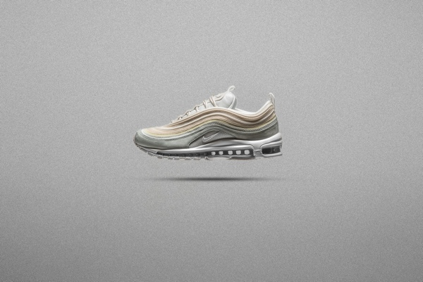 cec865764d1 NIKE AIR MAX 97 PREMIUM. Light Pumice Summit White Barely Grey Black  312834 -004  ¥19