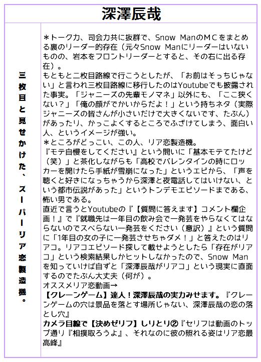 スノーマン チャンネル ジャニーズ jr