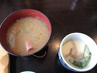 田舎鮨味噌汁茶碗蒸し