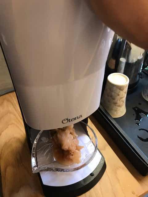 桃のかき氷