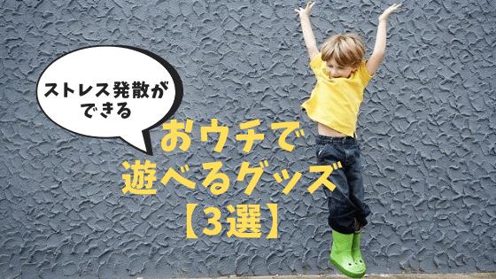 おウチで遊べるグッズ【3選】