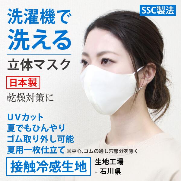 洗濯機で洗えるひんやりマスク