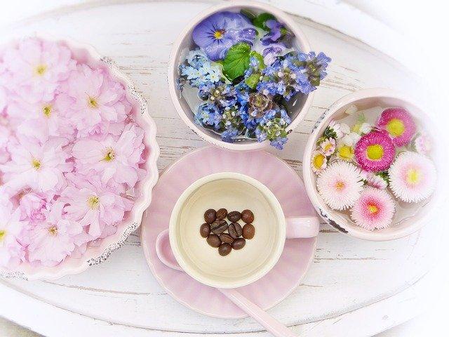 花と飲み物