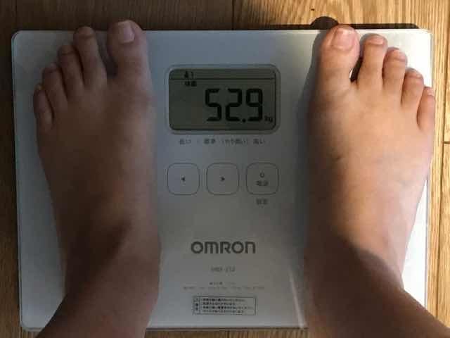 スリリンダブルを飲む2週間前の体重