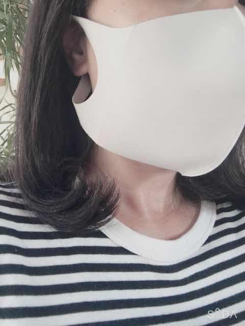 横顔の夏用マスクLサイズ