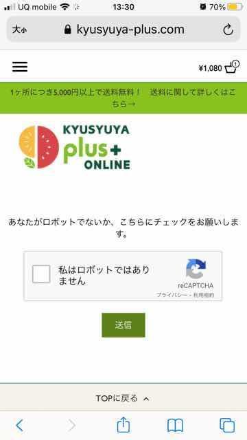 九州屋プラスplus+ロボット認証