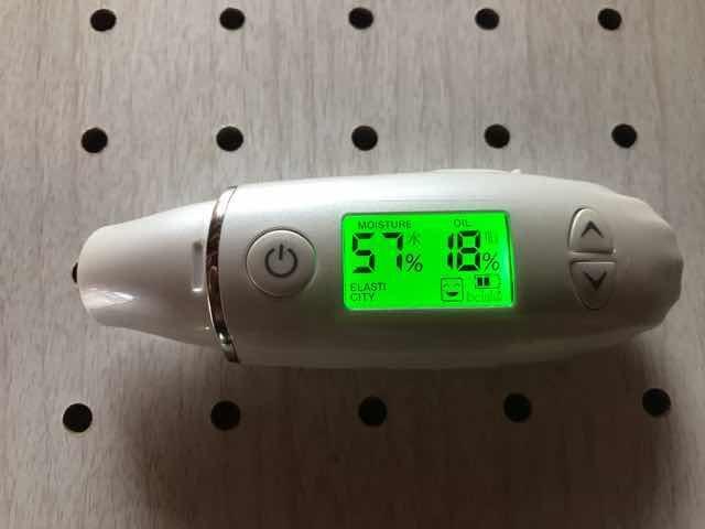 スキンケールドリバイタライジング濃密ジェル使用後のお肌の水分量