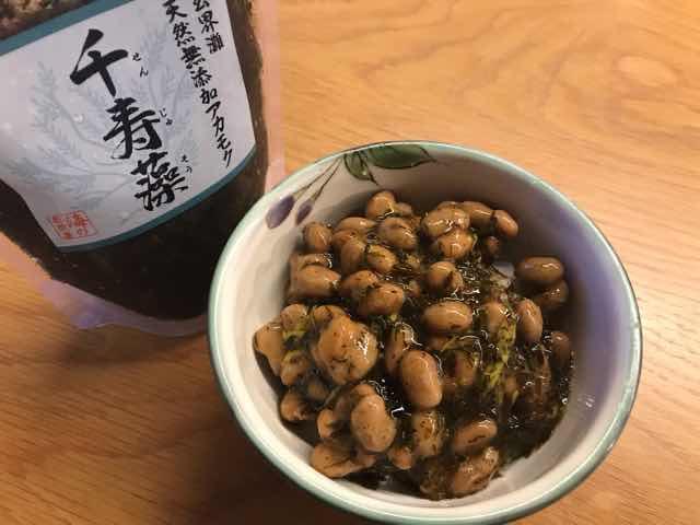 アカモク千寿藻vs納豆ネバネバ対決