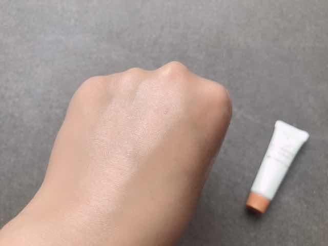 エクイタンス透明美肌体験3点セットホワイトクリームを塗った後