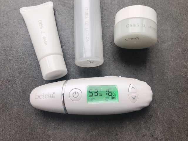 オルビスユートライアルセットをつかったてすぐにお肌の水分量、油分量
