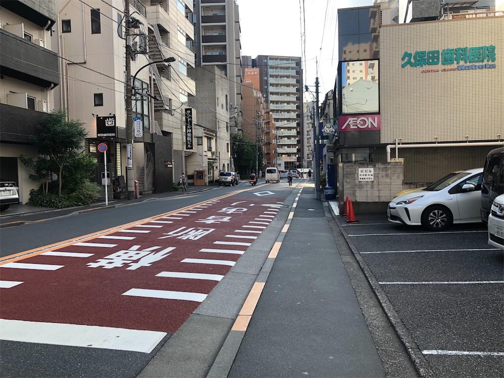 神楽坂駅から右に行った場合の細い道