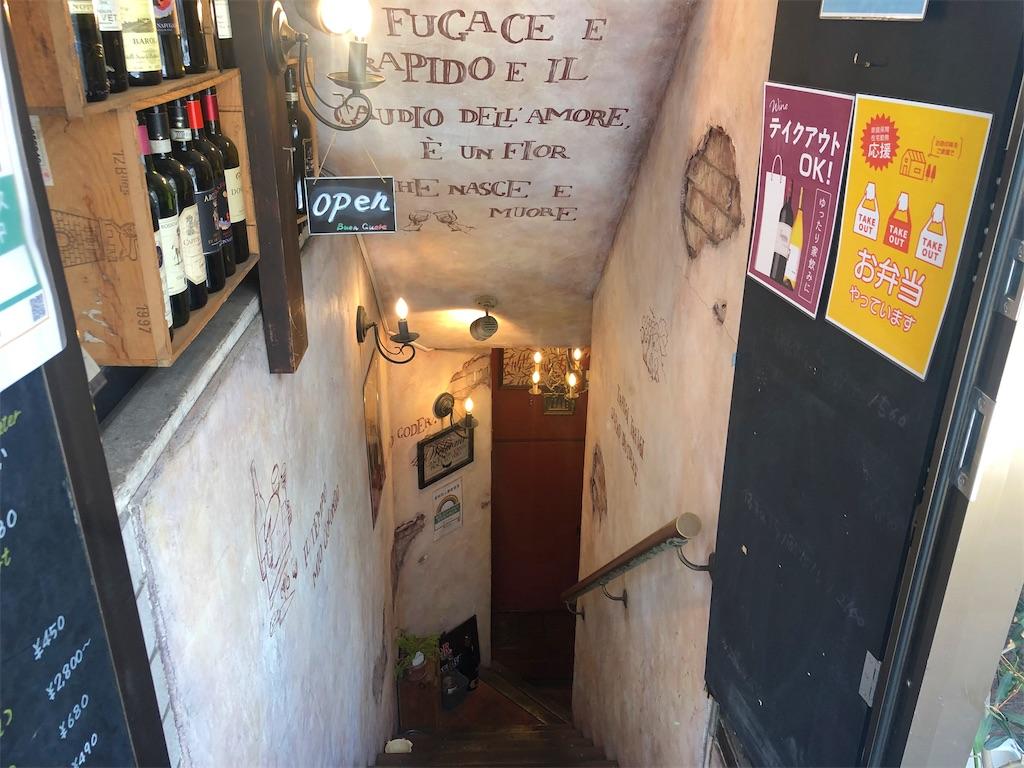 ブオンクオーレ 地下への階段