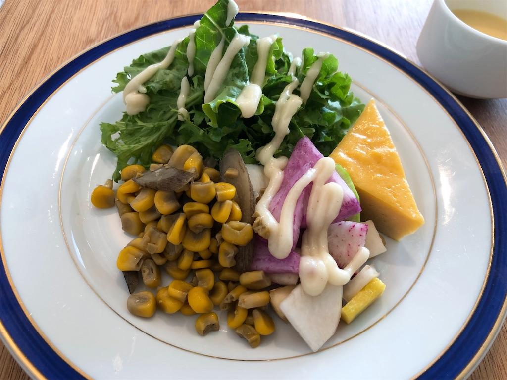 夕凪ランチサラダ 日替わり惣菜:ごぼうとコーンのバター炒め