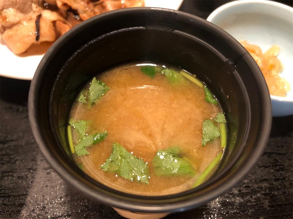 季乃香 豆腐と三つ葉の味噌汁